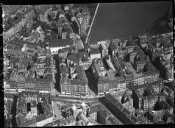 thumbnail: Skråfoto fra 1928-1933 taget 109 meter fra Vesterbrogade 56, 1. th