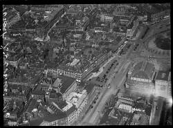 thumbnail: Skråfoto fra 1928-1933 taget 68 meter fra Lille Kongensgade 4, 2. th