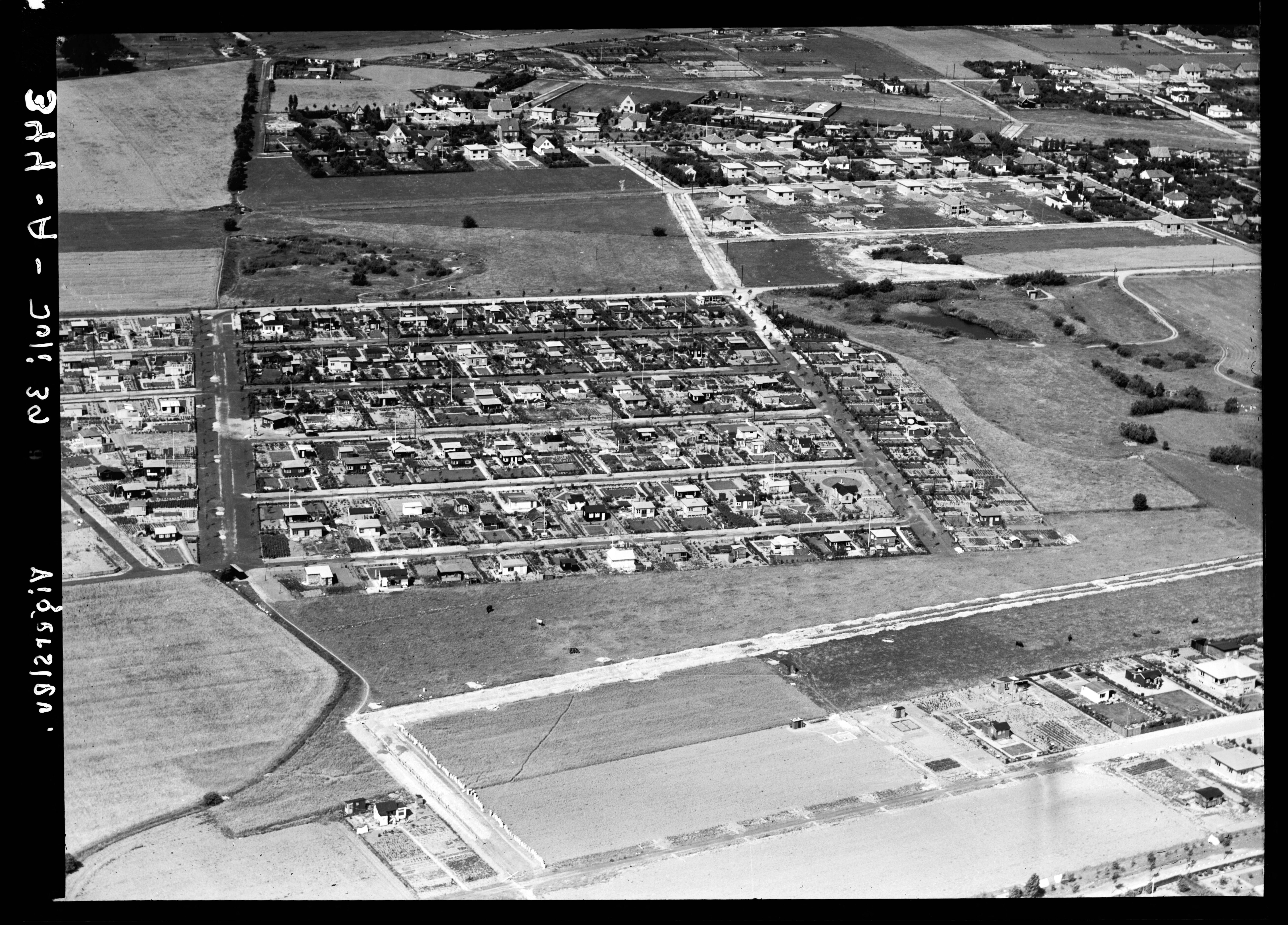 Skråfoto fra 1939 taget 216 meter fra Bliskær 22