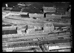 thumbnail: Skråfoto fra 1934 taget 122 meter fra Amerika Plads 3E, 8.
