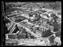 thumbnail: Skråfoto fra 1935 taget 54 meter fra Aldersrogade 3A, st.