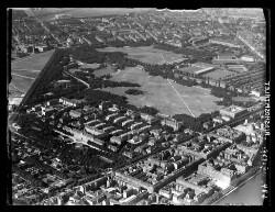 thumbnail: Skråfoto fra 1935 taget 21 meter fra Sortedam Dossering 53C, kl.