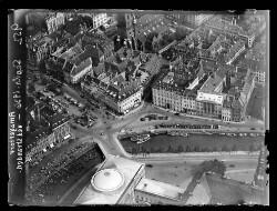 thumbnail: Skråfoto fra 1936 taget 27 meter fra Fortunstræde 4, kl.