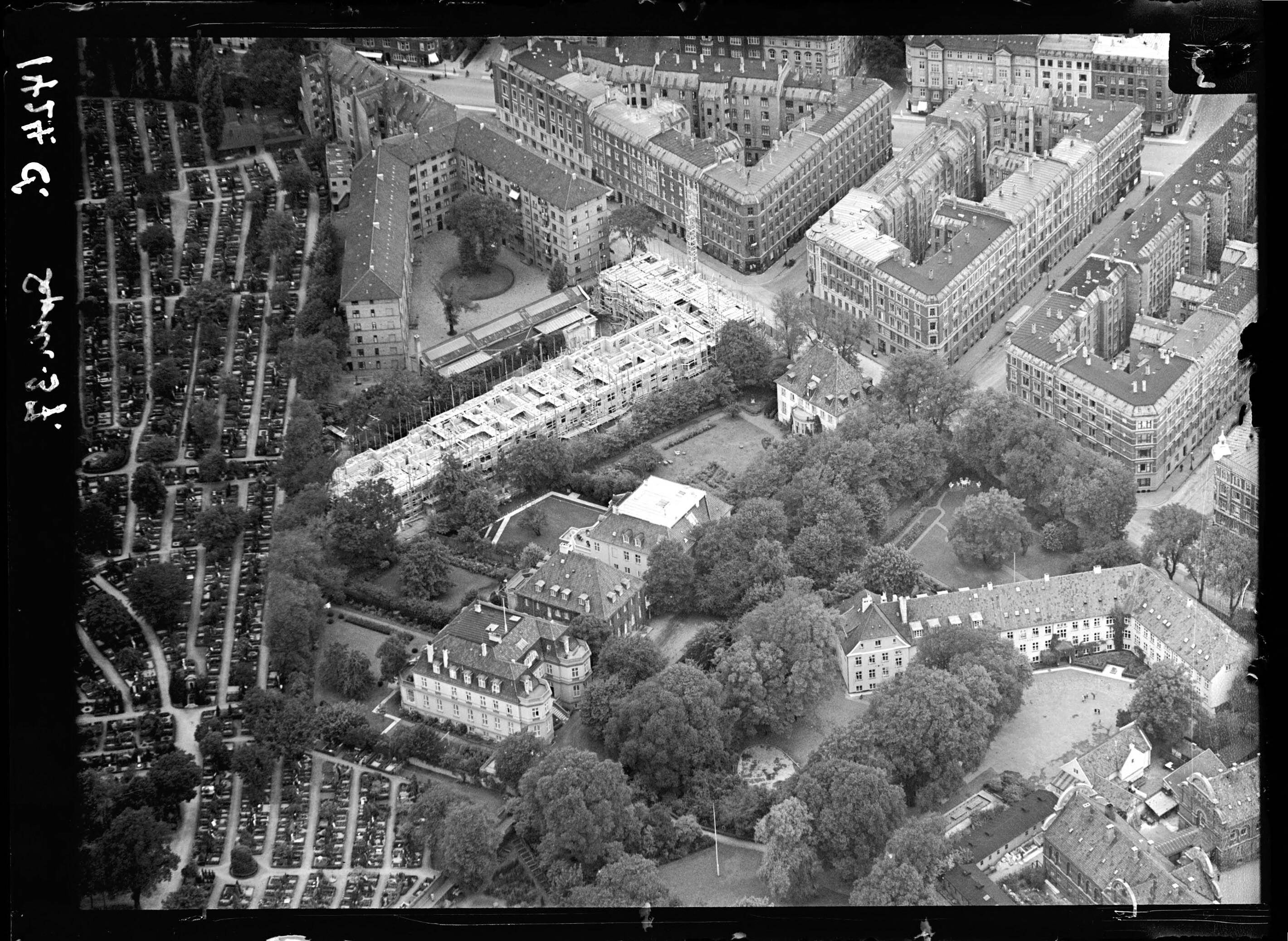 Skråfoto fra 1937 taget 144 meter fra Classensgade 35B