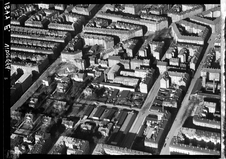 Skråfoto fra 1938 taget 20 meter fra Viborggade 70E, 2.