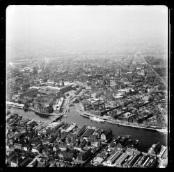 thumbnail: Skråfoto fra 1954 taget 20 meter fra Tordenskjoldsgade 34A, 1.