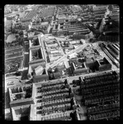 thumbnail: Skråfoto fra 1966 taget 162 meter fra Lange-Müllers Gade 13, 4. tv
